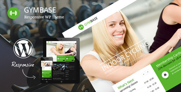 Wordpress Immobilien Template GymBase - Responsive Gym Fitness WordPress Theme