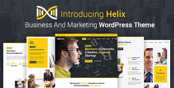 Wordpress Corporate Template Helix - Business And Marketing WordPress Theme