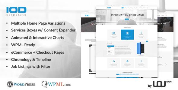 Wordpress Corporate Template IOD - Corporate, Business, Finance Theme