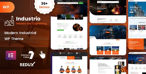 Wordpress Immobilien Template Industrial - Industry & Factory WordPress