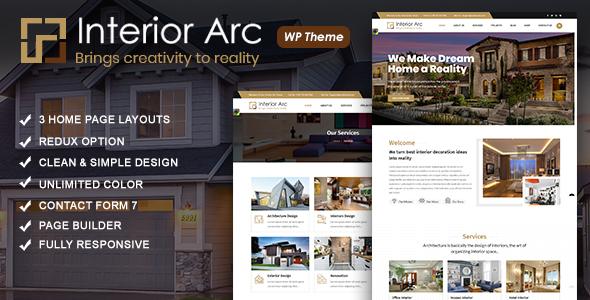 Wordpress Immobilien Template Interior Arc - Architecture WordPress Theme