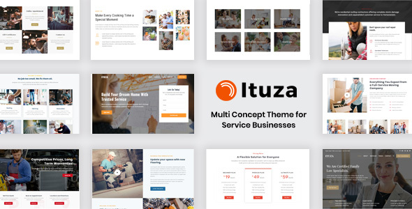 Wordpress Immobilien Template Ituza - Multi-Concept Theme for Service Businesses
