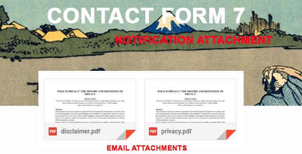 Wordpress Formular Plugin Contact Form 7 Notification Attachment