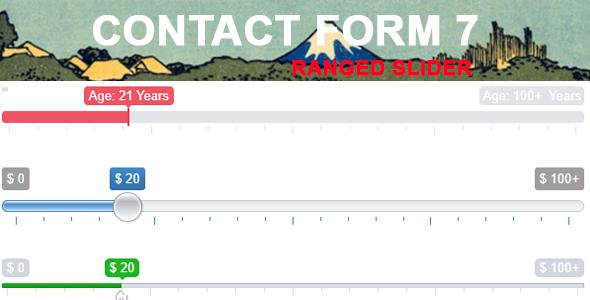 Wordpress Formular Plugin Contact Form 7 Range Slider