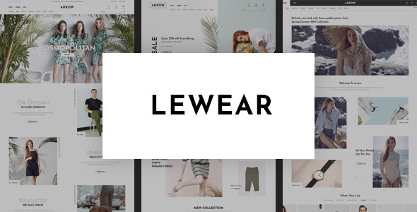 Wordpress Shop Template Lewear - Multipurpose WooCommerce Theme