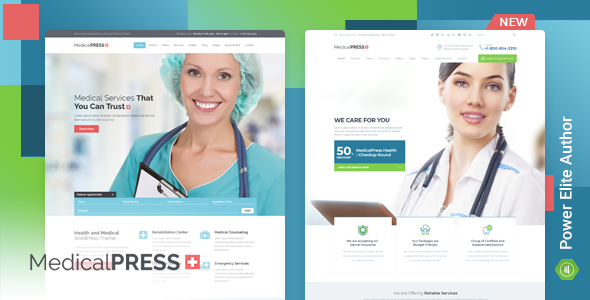 Wordpress Immobilien Template MedicalPress - Health WordPress Theme