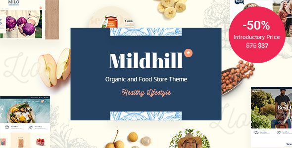 Wordpress Shop Template Mildhill - Organic and Food Store Theme