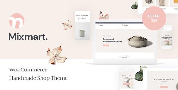 Wordpress Shop Template Mixmart - Handmade Shop WordPress WooCommerce Theme