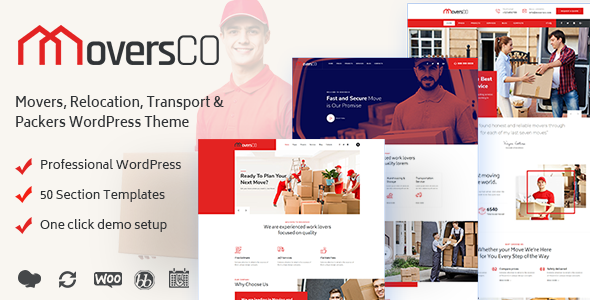 Wordpress Immobilien Template MoversCO - Movers & Packers WordPress Theme