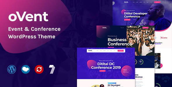 Wordpress Entertainment Template Ovent - Event & Conference WordPress Theme