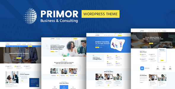 Wordpress Immobilien Template Primor - Business Consulting WordPress Theme