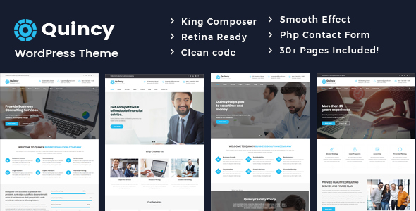 Wordpress Immobilien Template Quincy - Business Consulting WordPress Theme