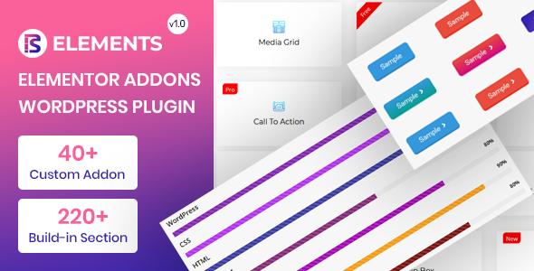 Wordpress Add-On Plugin RS Elements - Addon For Elementor Page Builder WordPress Plugin
