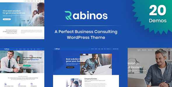 Wordpress Immobilien Template Rabinos - Business Consulting WordPress Theme