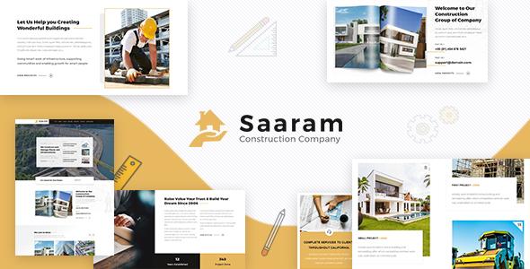Wordpress Immobilien Template Saaram Construction, Architect WordPress Theme