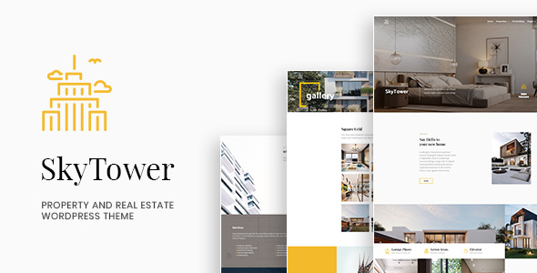 Wordpress Immobilien Template SkyTower - Property and Real Estate WordPress Theme