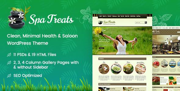 Wordpress Immobilien Template Spa Treats - Health & Wellness WordPress