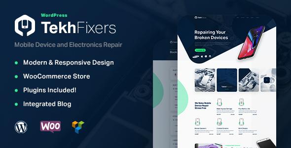 Wordpress Immobilien Template TekhFixers - Mobile Device Repair WordPress Theme