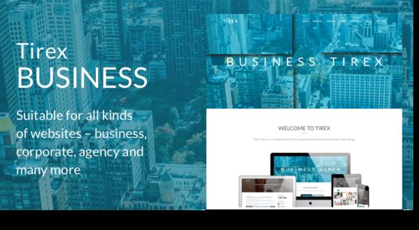 Wordpress Corporate Template Tirex Business - Agency & Corporate WordPress Theme