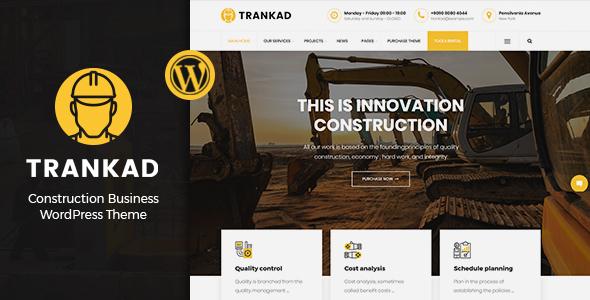 Wordpress Immobilien Template Trankad - Construction WordPress Theme