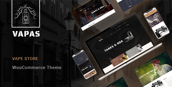 Wordpress Shop Template Vapas – Vape Store WooCommerce WordPress Theme