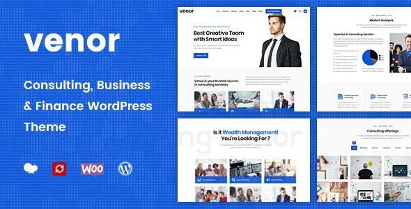 Wordpress Immobilien Template Venor - Business Consulting WordPress Theme
