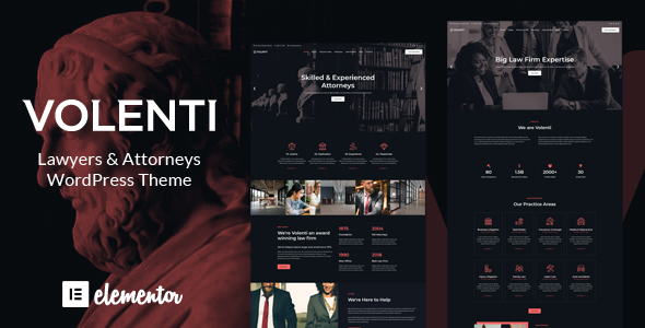 Wordpress Immobilien Template Volenti - Lawyers Elementor WordPress Theme