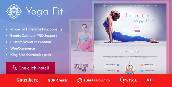 Wordpress Immobilien Template Yoga Fit - Sports, Fitness & Gym WordPress Theme