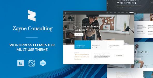 Wordpress Immobilien Template Zayne - Business Finance