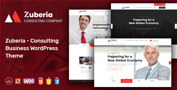 Wordpress Immobilien Template Zuberia - Business Consulting Services WordPress Theme