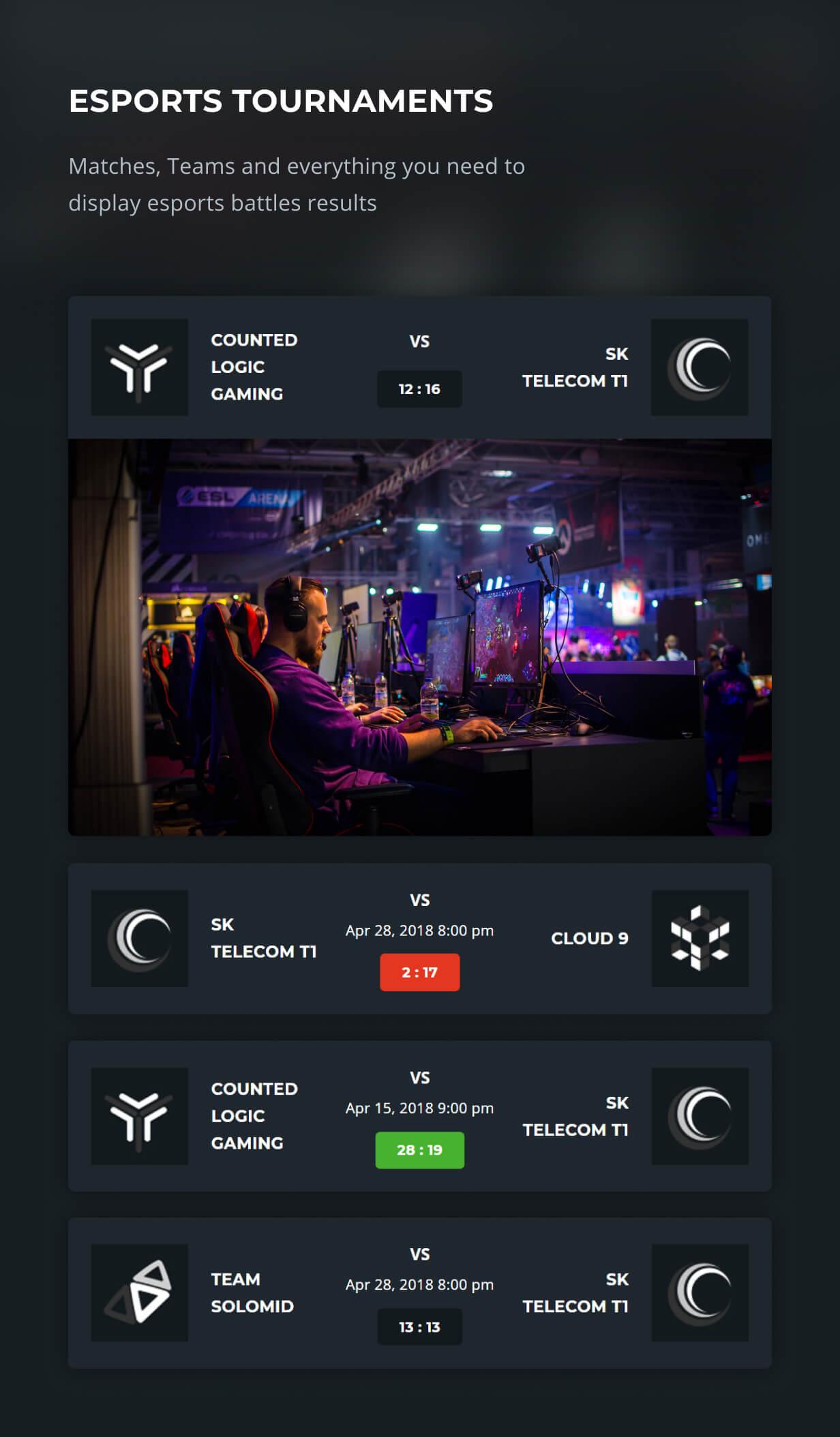 eSports-Funktionen