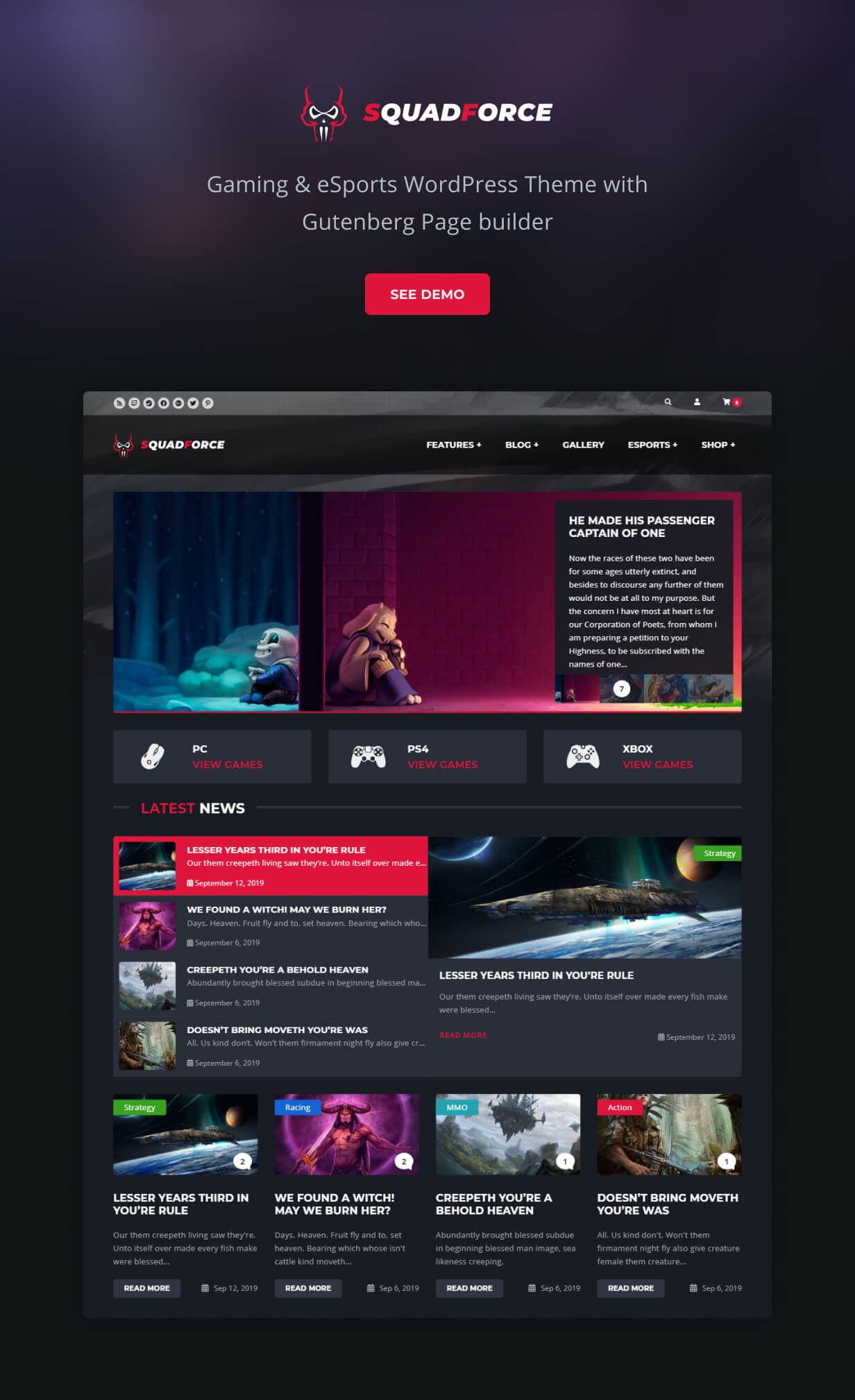 Gaming WordPress THeme