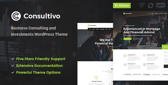 Consultivo - Unternehmensberatung und Investitionen WordPress Theme