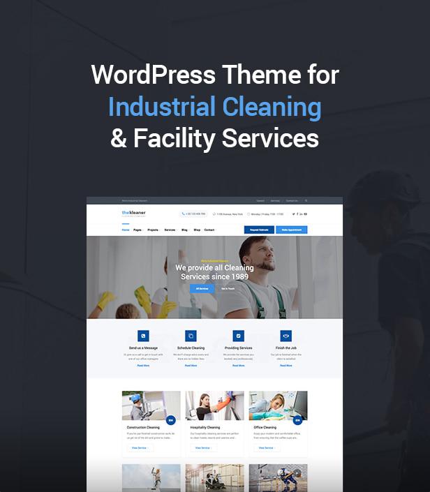 Das Kleaner - Industriereinigungsunternehmen WordPress Theme