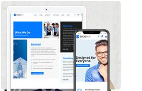 SolidBox | Sauberes modernes WordPress-Design für Ihr Unternehmen - 1