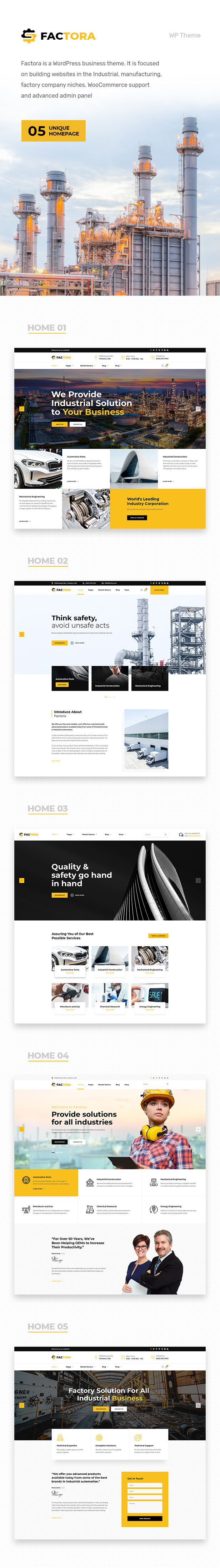 Factora - Fabrik, Industrie Geschäft WordPress Theme - 1