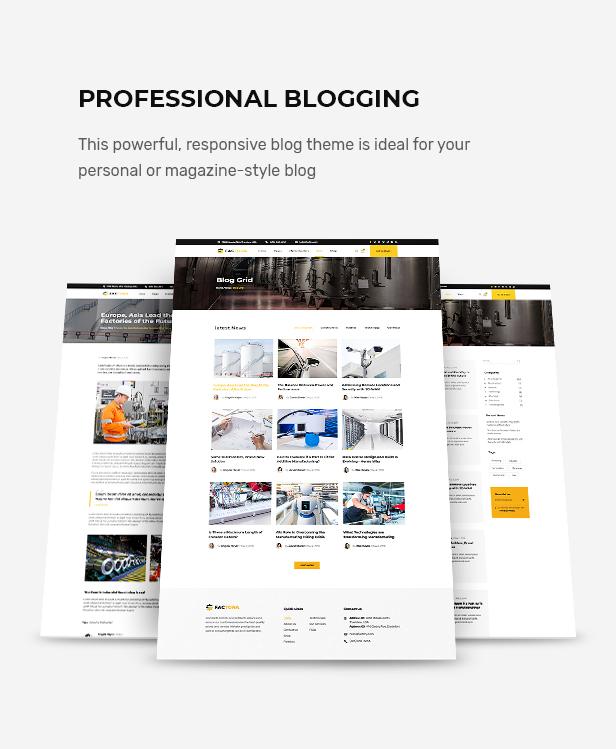 Factora - Fabrik, Industrie Geschäft WordPress Theme - 4
