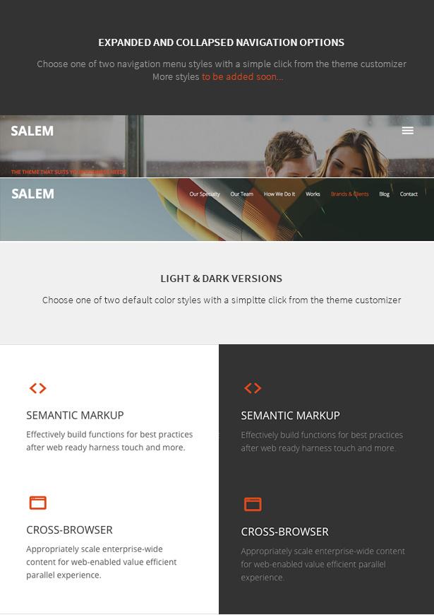 Salem - Sauberes und mutiges einseitiges WordPress-Theme - 6