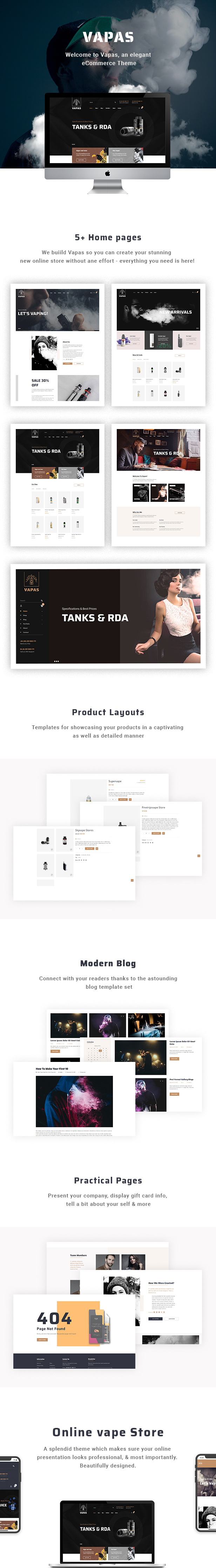 Vapas - Vape Store WooCommerce WordPress Theme - 1