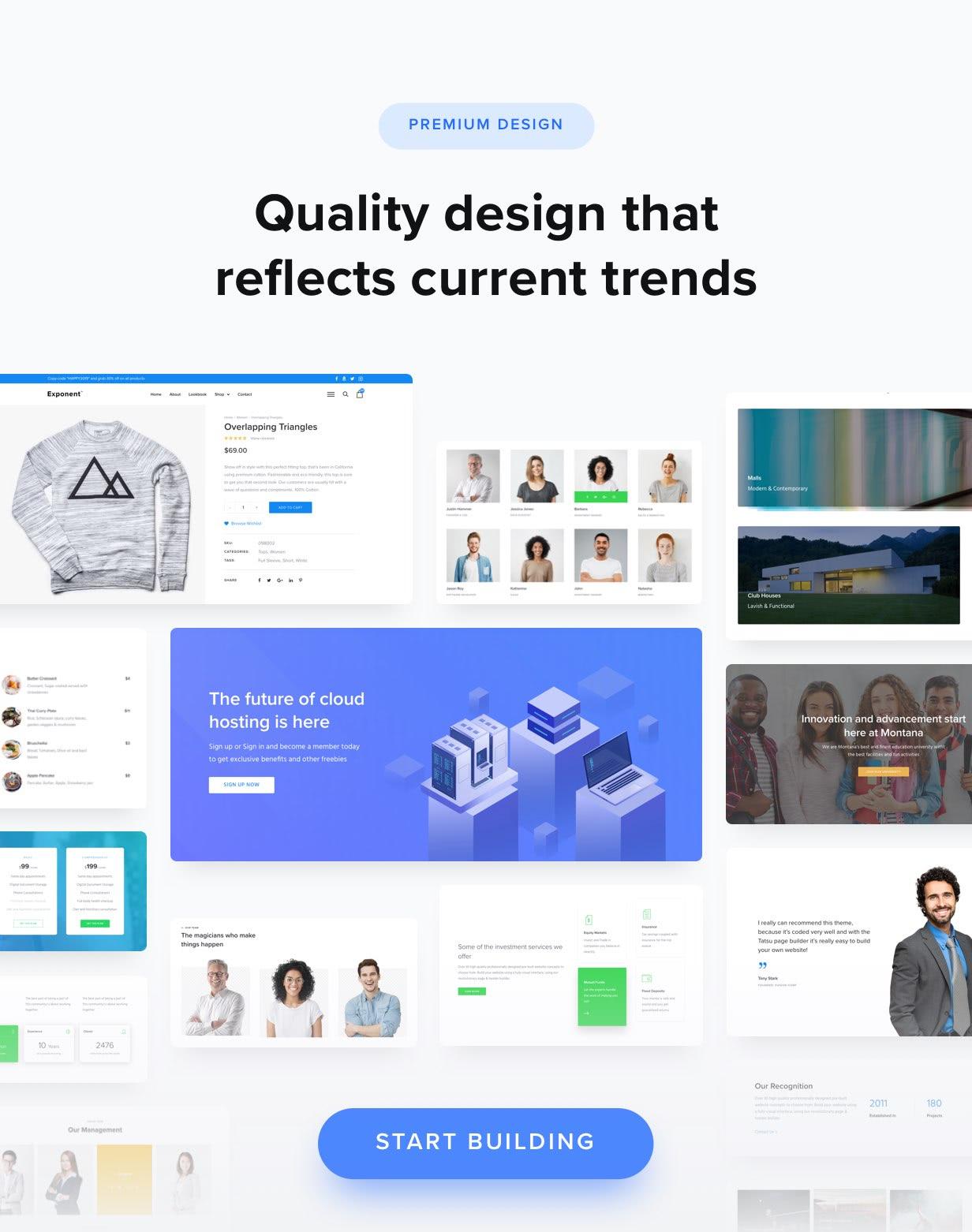 Über 100 hochwertige Design-Layouts