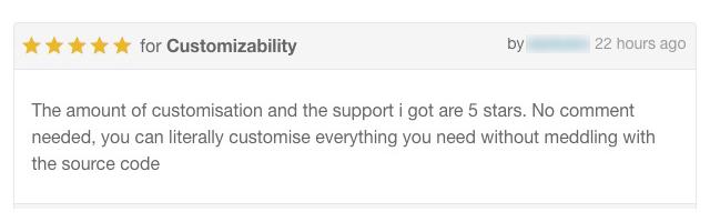 Anpassbarkeit und 5-Sterne-Support-Services von PlethoraThemes