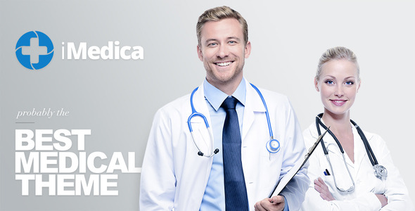 Wordpress Immobilien Template iMedica - Responsive Medical & Health WP Theme