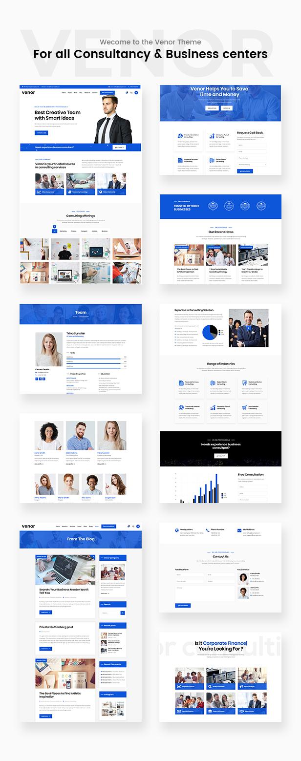 Venor - Unternehmensberatung WordPress Theme - 2