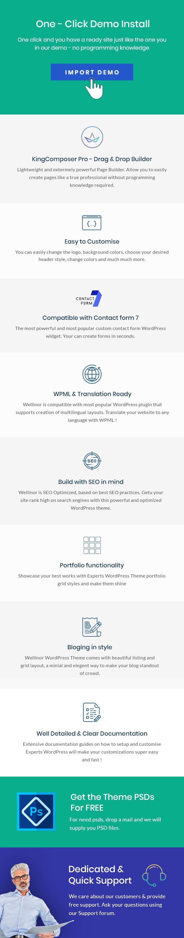 Rabinos - Unternehmensberatung WordPress Theme - 2