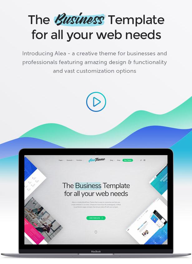 Alea - Business Mehrzweck WordPress Theme - 1