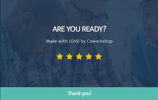 Leistungsstarkes Coworkshop Coworking Space WordPress Theme