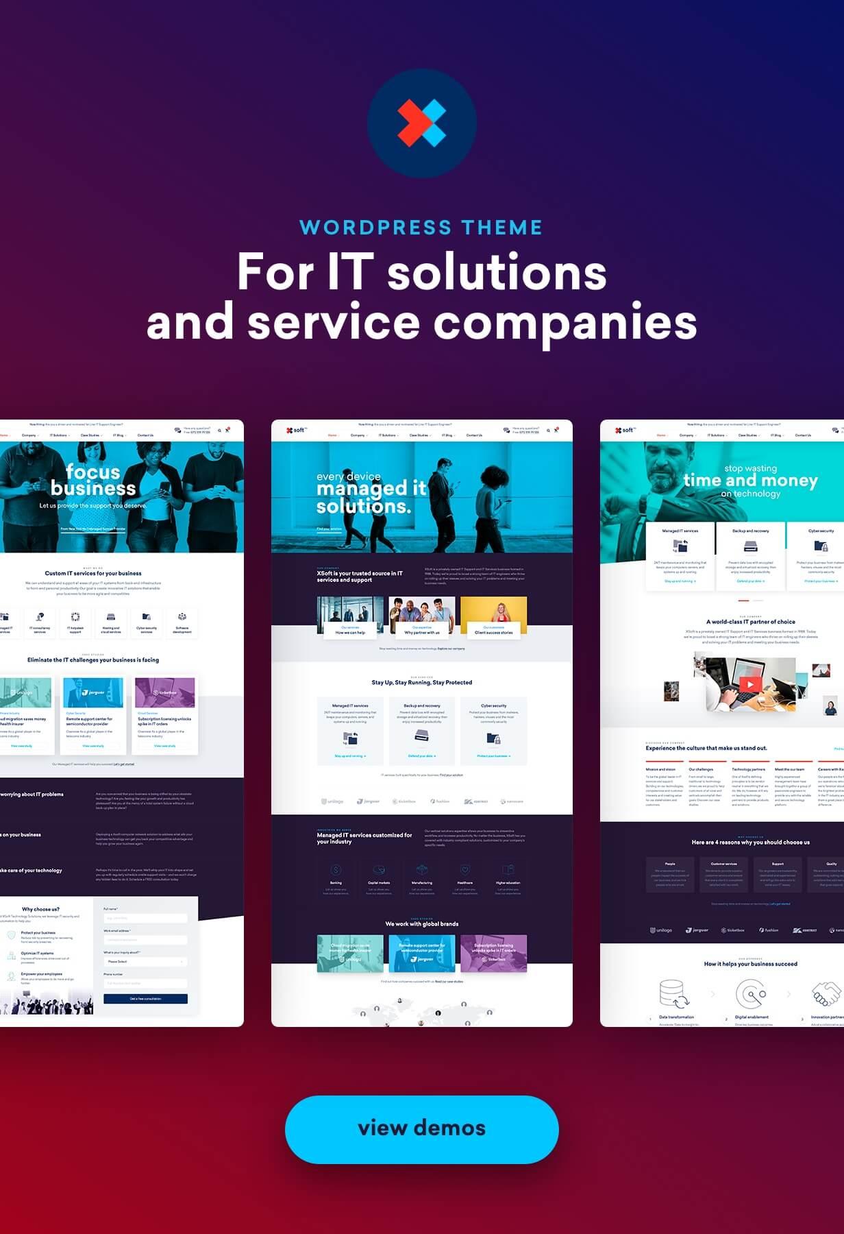 Nanosoft - WP Theme für IT Solutions and Services Company - 2