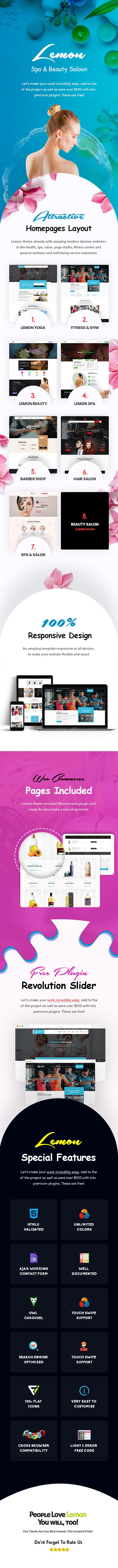 Zitrone | Spa & Beauty Responsives WordPress-Mehrzweckthema - 1