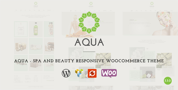 Wordpress Immobilien Template Aqua - Spa and Beauty Responsive WooCommerce WordPress Theme