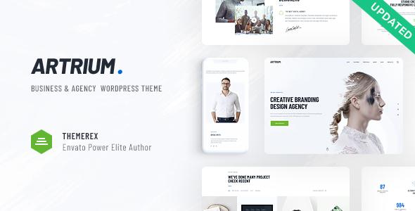Wordpress Immobilien Template Artrium   Creative Agency & Web Studio WordPress Theme